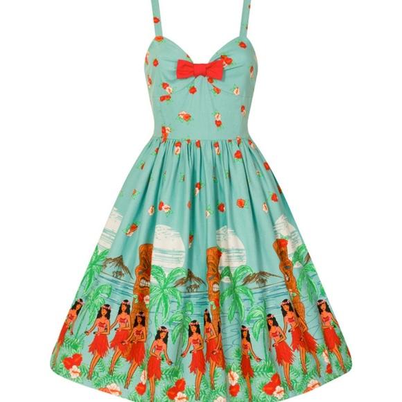 7cda173dcf3b Lindy Bop Dresses & Skirts - Lindy Bop Tiki Swing Dress - US 18 / UK